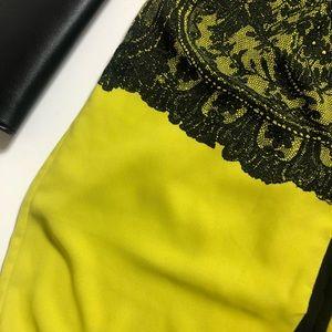 BCBGMaxAzria Dresses - BCBGMaxazria Neon Black Lace Long Sleeve Dress